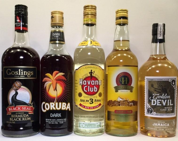 Porównanie kolorystyki rumów