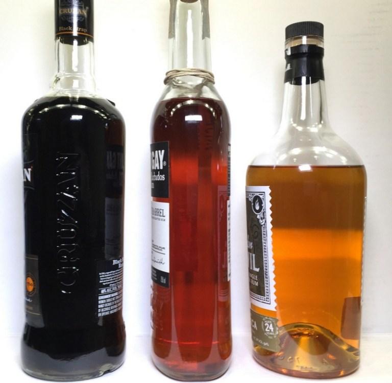Porównanie kolorów rumu