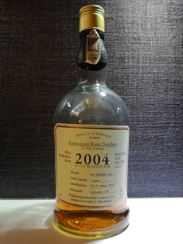Rum Foursquare 2004, fot. własna