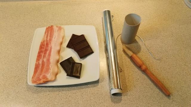 Rzeczy do kieliszków bekonowo - czekoladowych