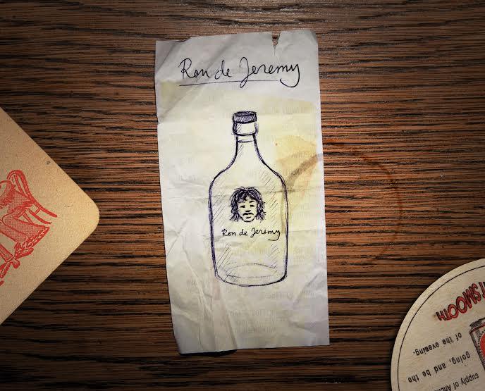 Pierwszy wzór etykiety rumu Ron de Jeremy