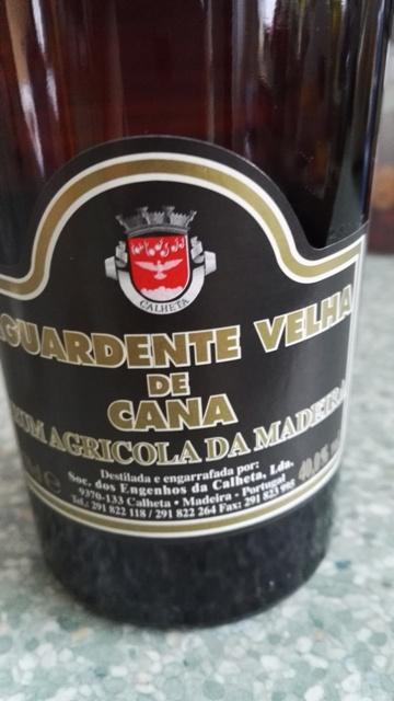 Aguardente de Cana z Madery