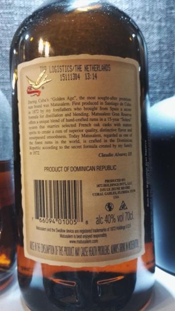 Rum Matusalem Gran Reserva 15